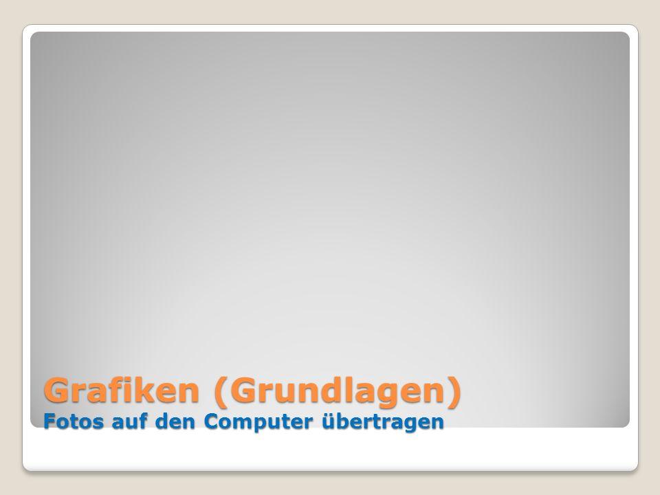 Grafiken (Grundlagen) Fotos auf den Computer übertragen