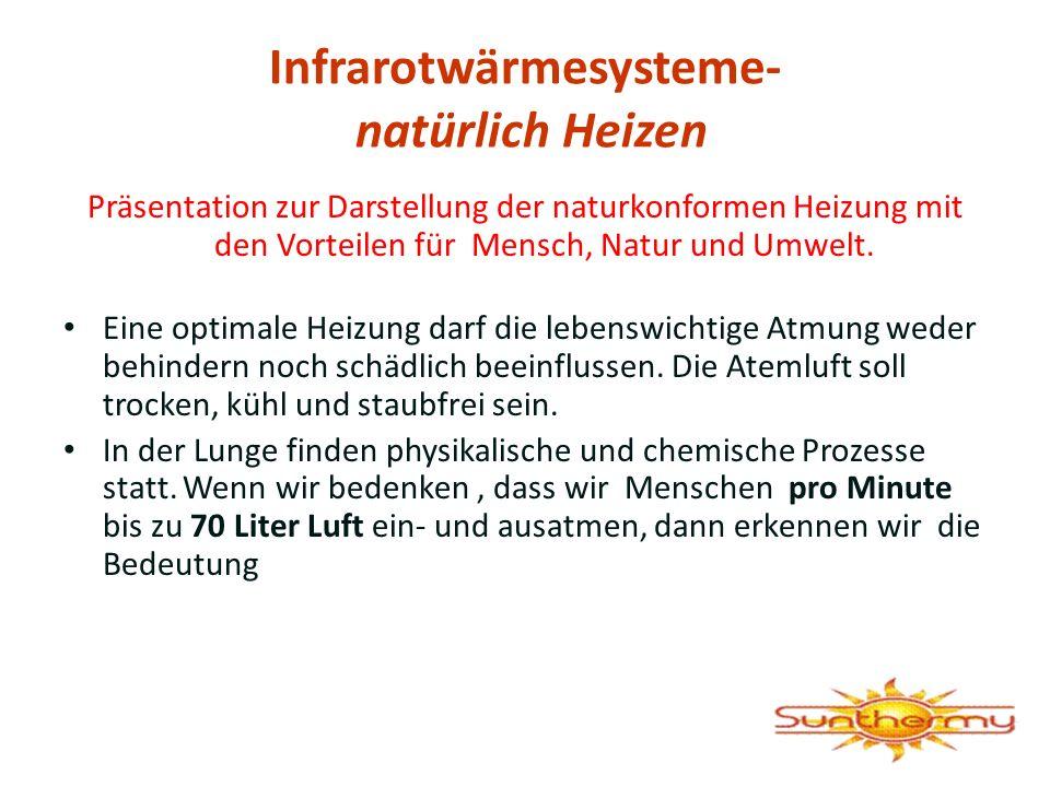 Infrarotwärmesysteme- natürlich Heizen