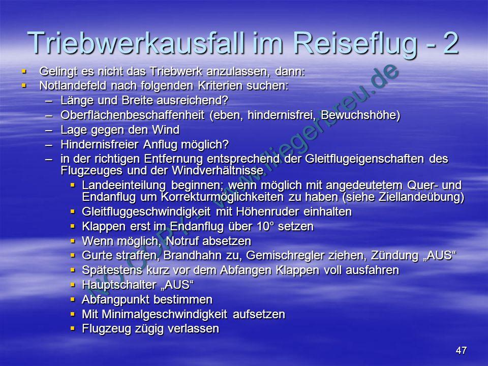 Triebwerkausfall im Reiseflug - 2
