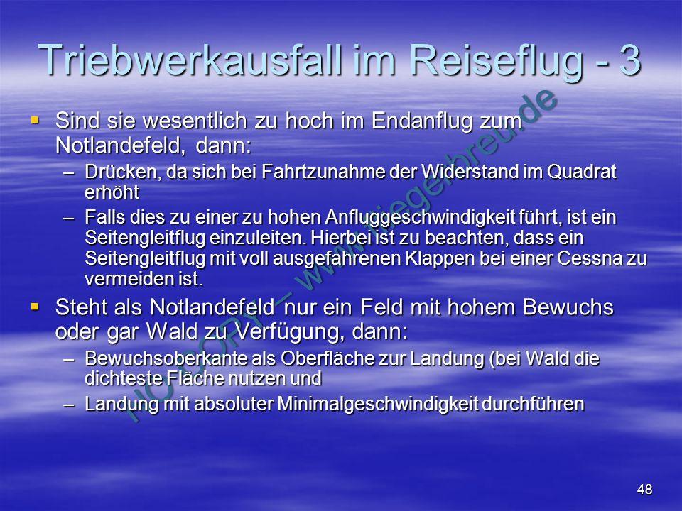 Triebwerkausfall im Reiseflug - 3