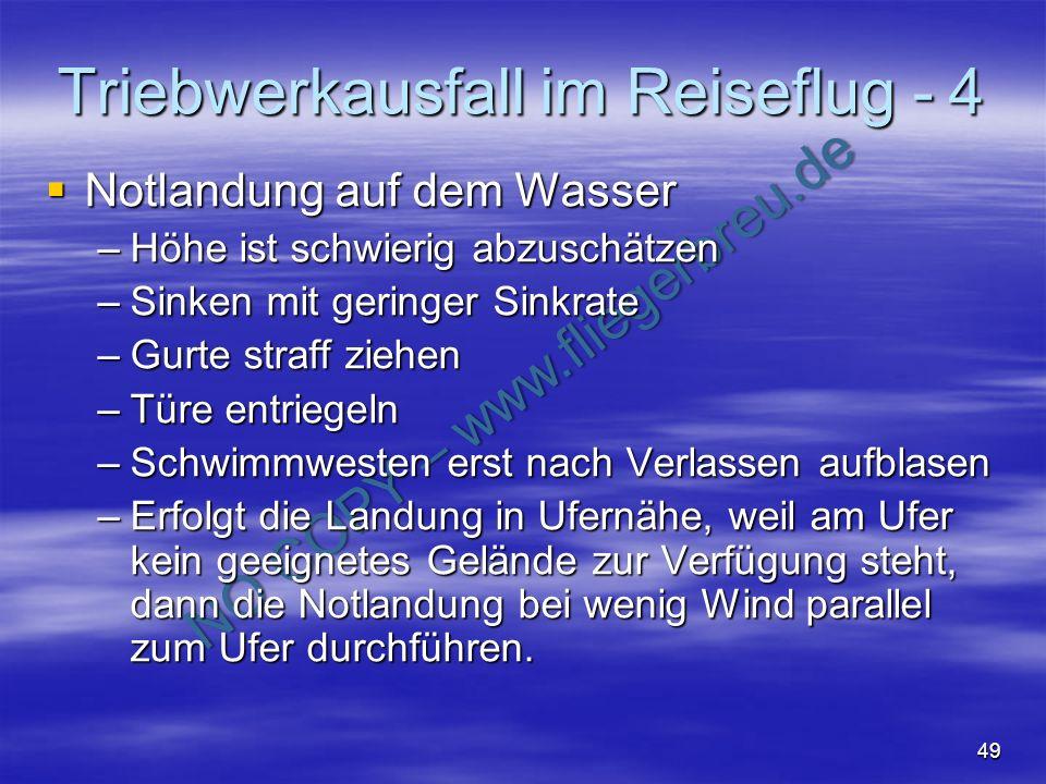 Triebwerkausfall im Reiseflug - 4