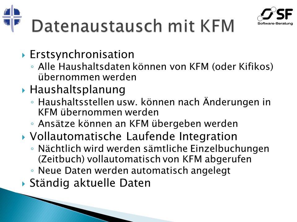 Datenaustausch mit KFM