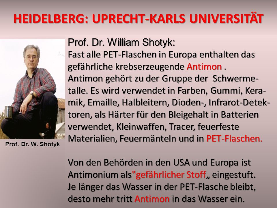 HEIDELBERG: uprecht-Karls Universität