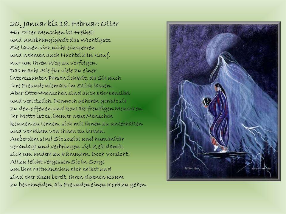 20. Januar bis 18. Februar: Otter Für Otter-Menschen ist Freiheit