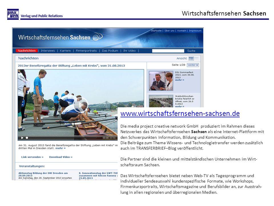 www.wirtschaftsfernsehen-sachsen.de Wirtschaftsfernsehen Sachsen