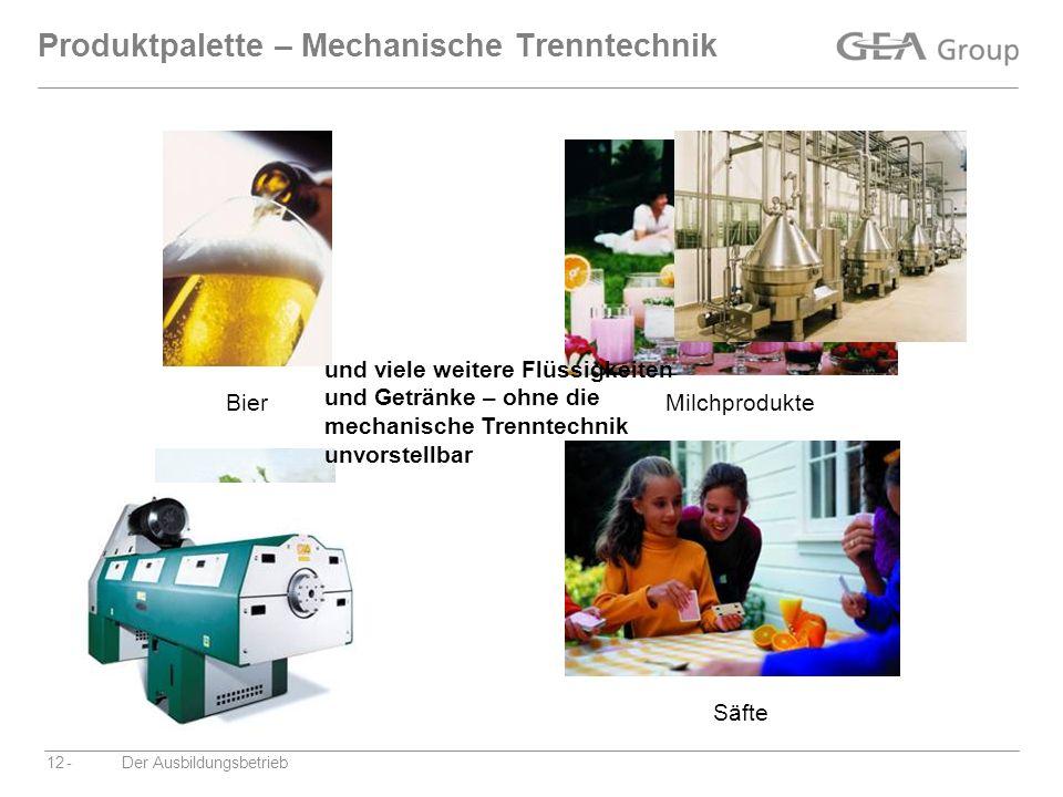 Produktpalette – Mechanische Trenntechnik