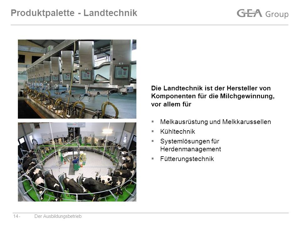 Produktpalette - Landtechnik