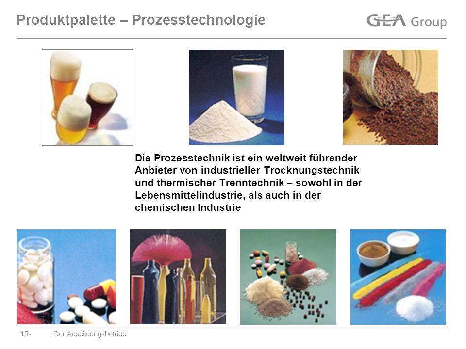 Produktpalette – Prozesstechnologie