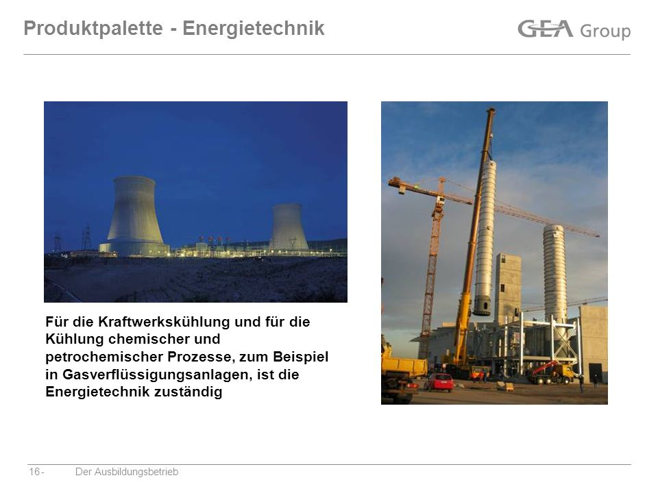 Produktpalette - Energietechnik