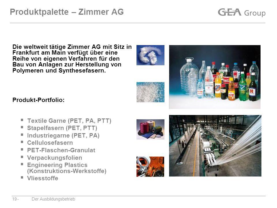 Produktpalette – Zimmer AG