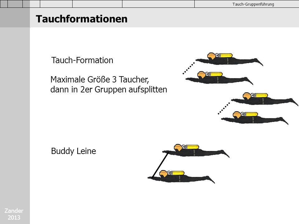 Tauchformationen Tauch-Formation Maximale Größe 3 Taucher,