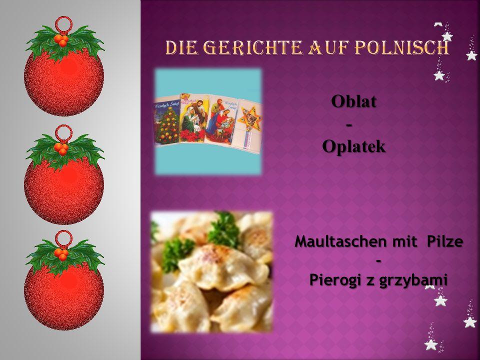 Die Gerichte auf Polnisch