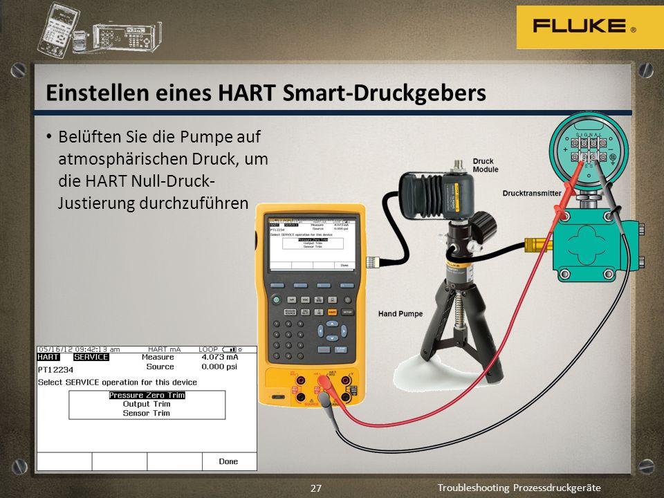 Einstellen eines HART Smart-Druckgebers