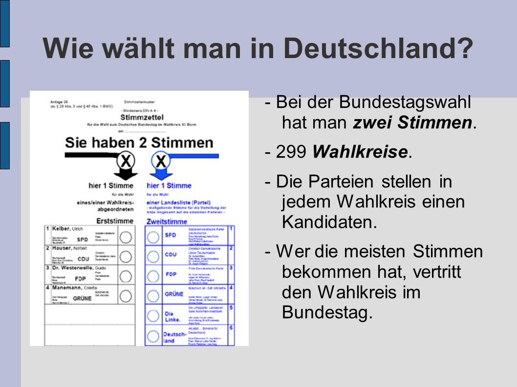Wie wählt man in Deutschland