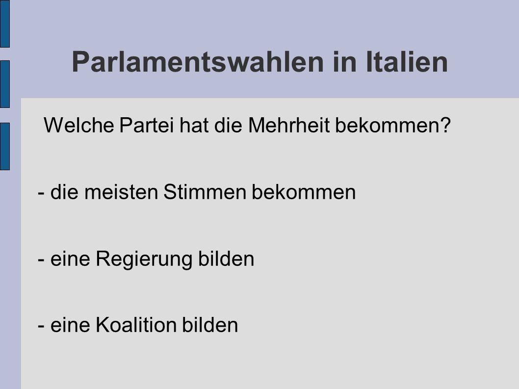 Parlamentswahlen in Italien