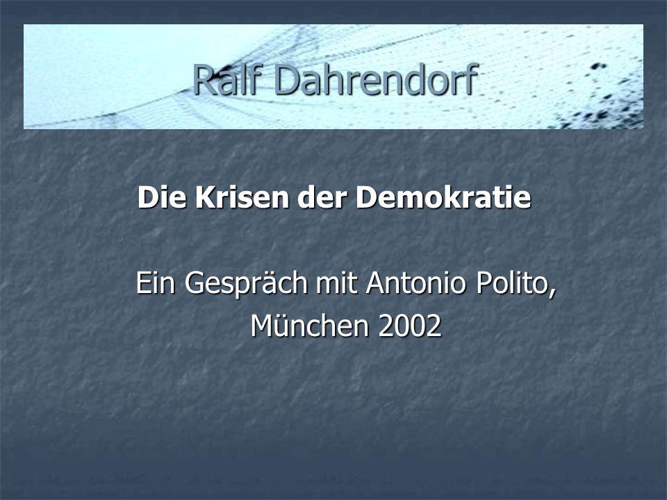 Die Krisen der Demokratie
