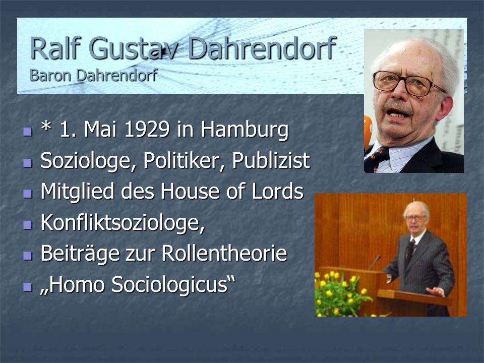 Ralf Gustav Dahrendorf Baron Dahrendorf