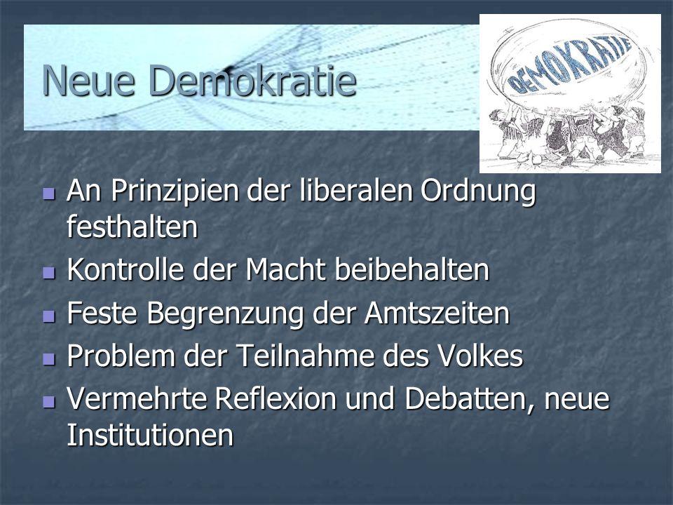 Neue Demokratie An Prinzipien der liberalen Ordnung festhalten