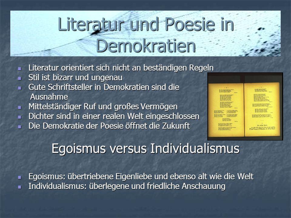 Literatur und Poesie in Demokratien