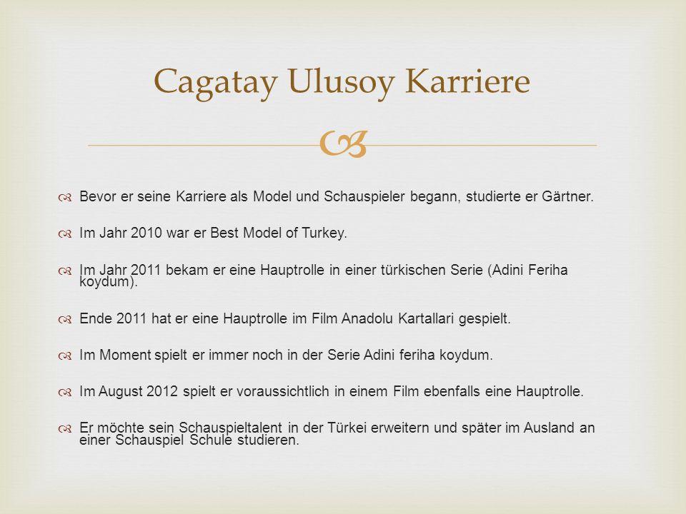 Cagatay Ulusoy Karriere