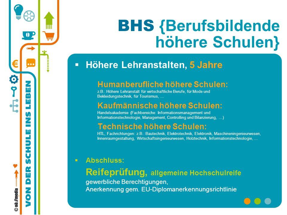 BHS {Berufsbildende höhere Schulen}
