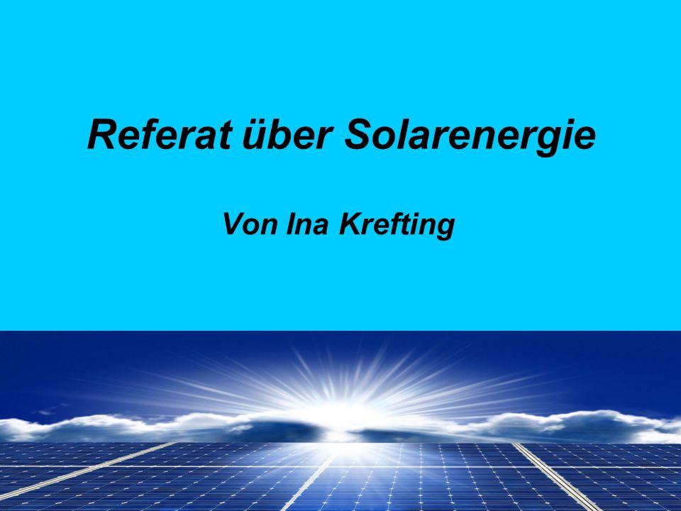 Referat über Solarenergie