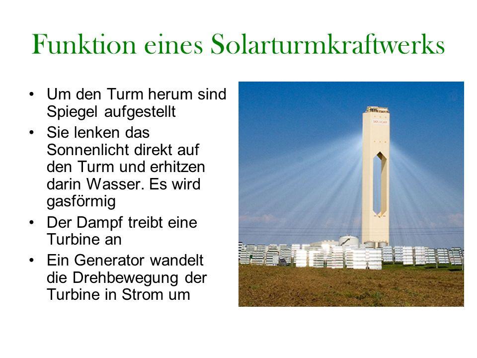 Funktion eines Solarturmkraftwerks
