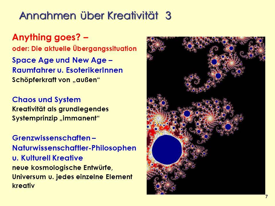 Annahmen über Kreativität 3