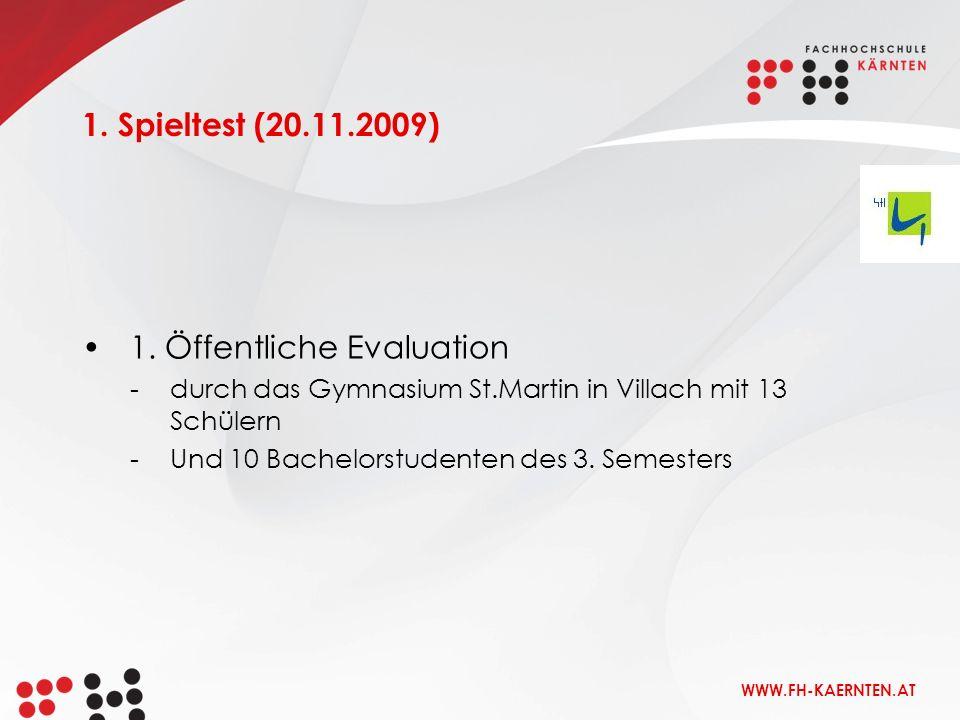 1. Öffentliche Evaluation