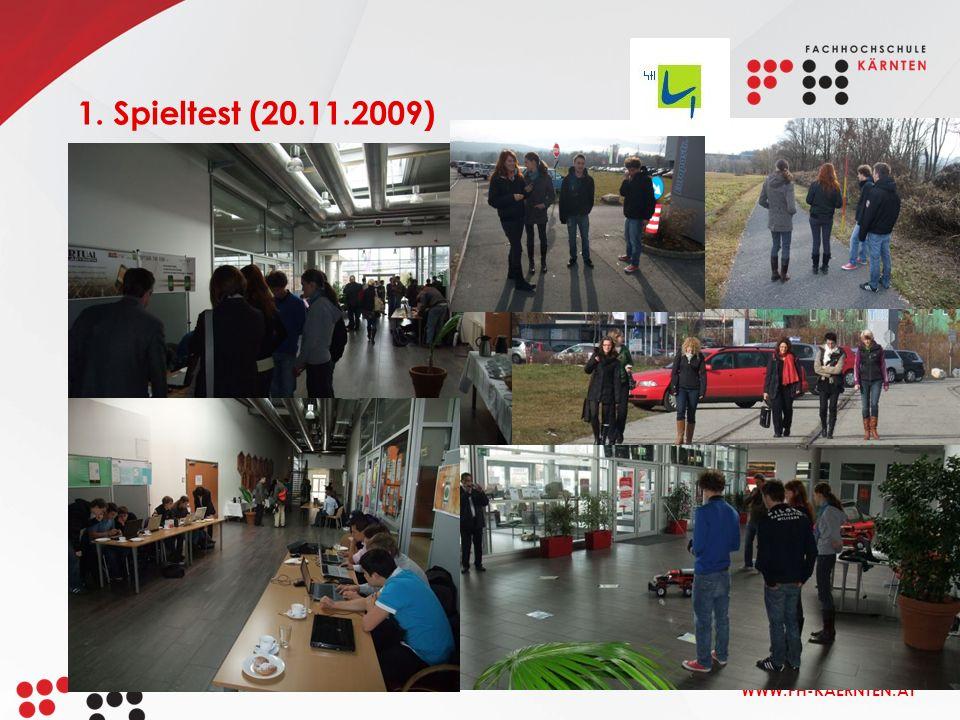 1. Spieltest (20.11.2009)