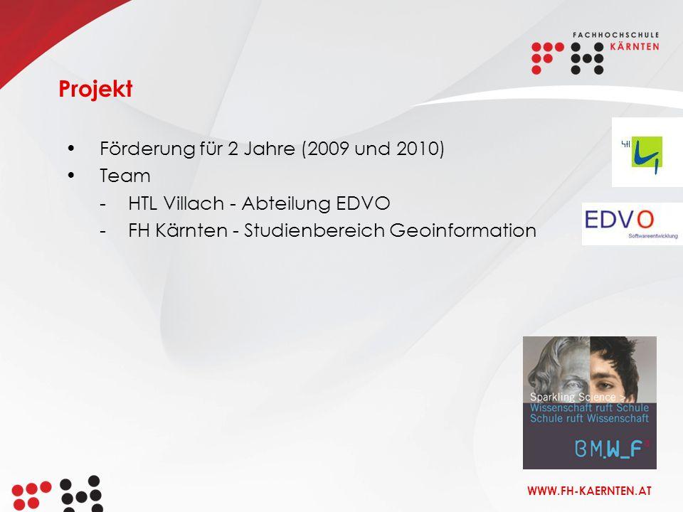 Projekt Förderung für 2 Jahre (2009 und 2010) Team