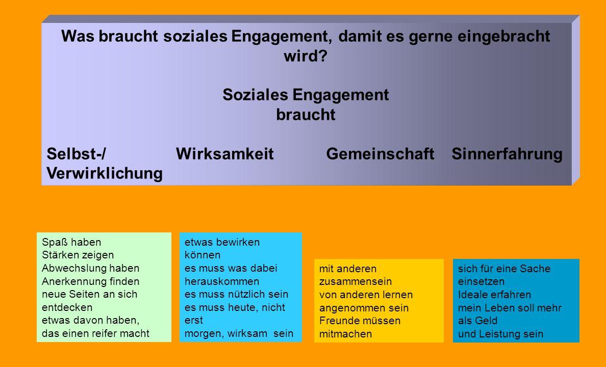 Was braucht soziales Engagement, damit es gerne eingebracht wird