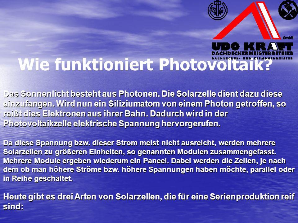 Wie funktioniert Photovoltaik