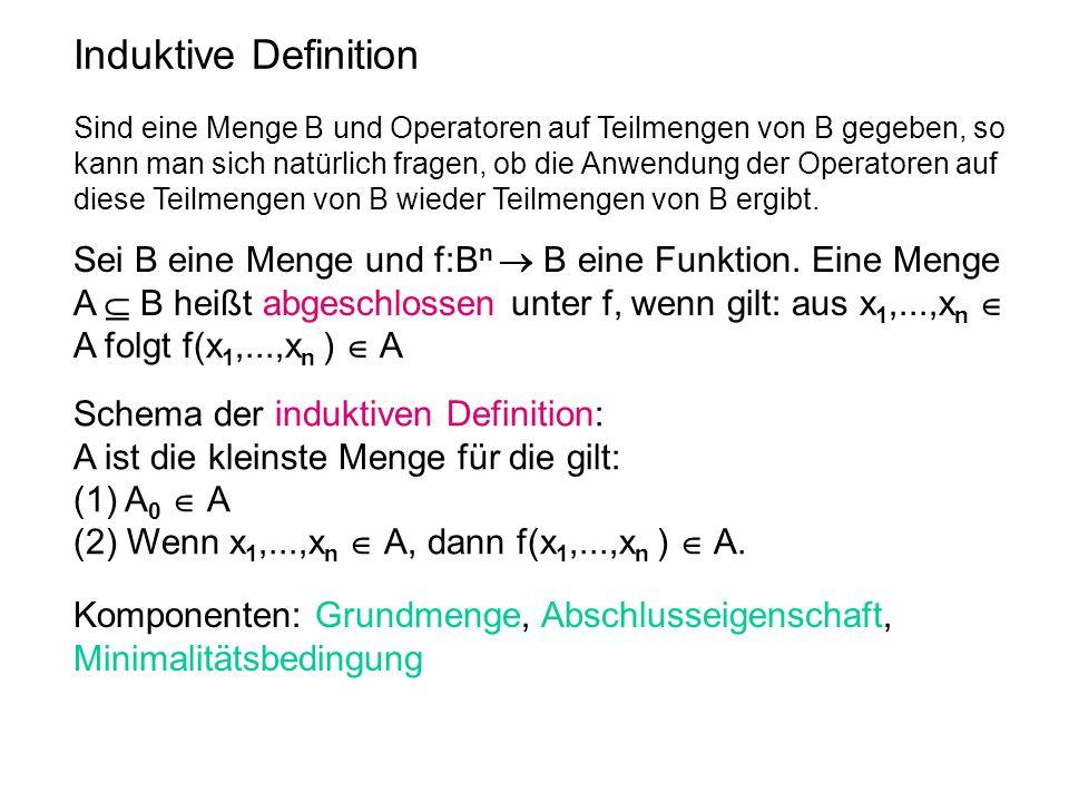 Induktive Definition