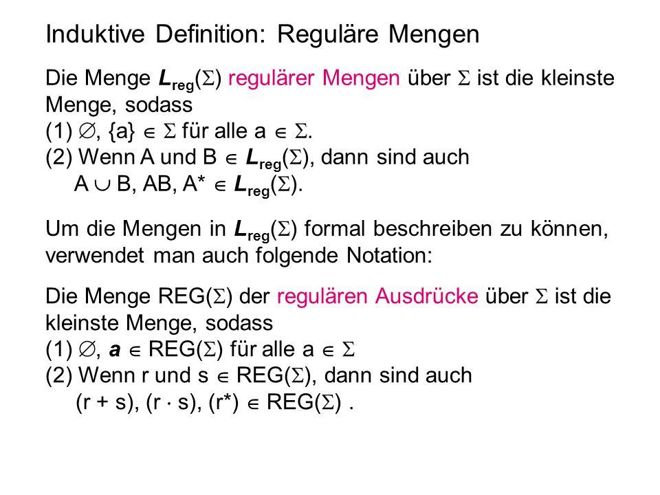 Induktive Definition: Reguläre Mengen