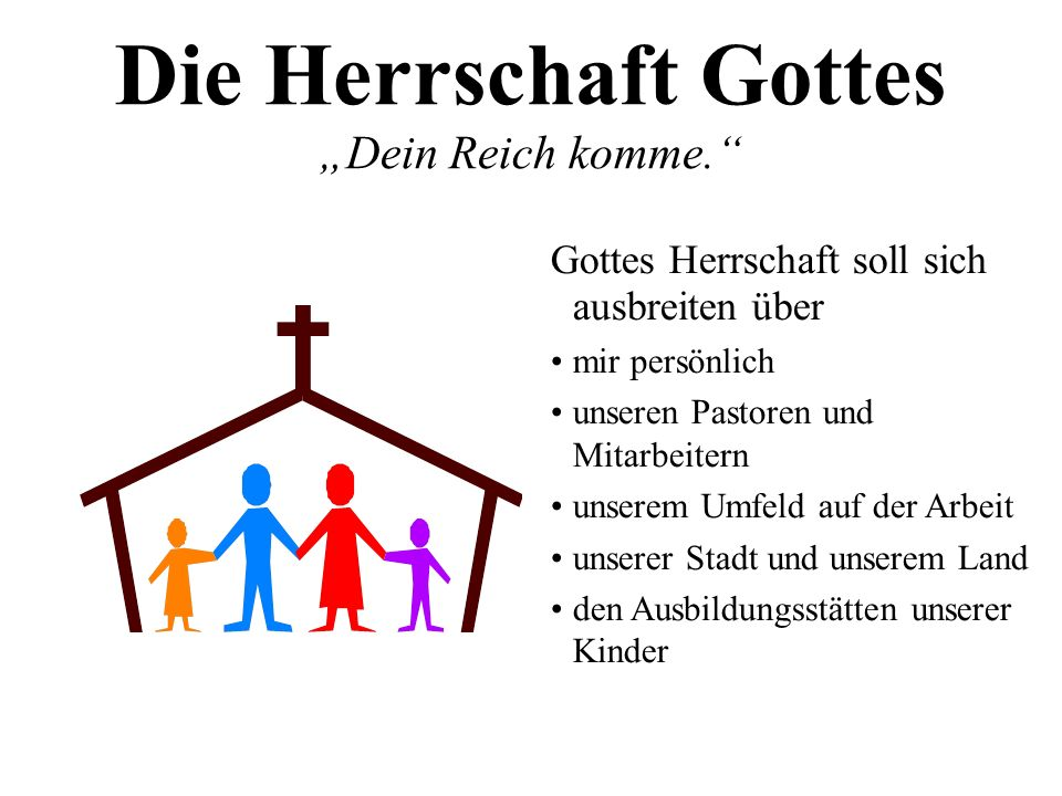 """Die Herrschaft Gottes """"Dein Reich komme."""