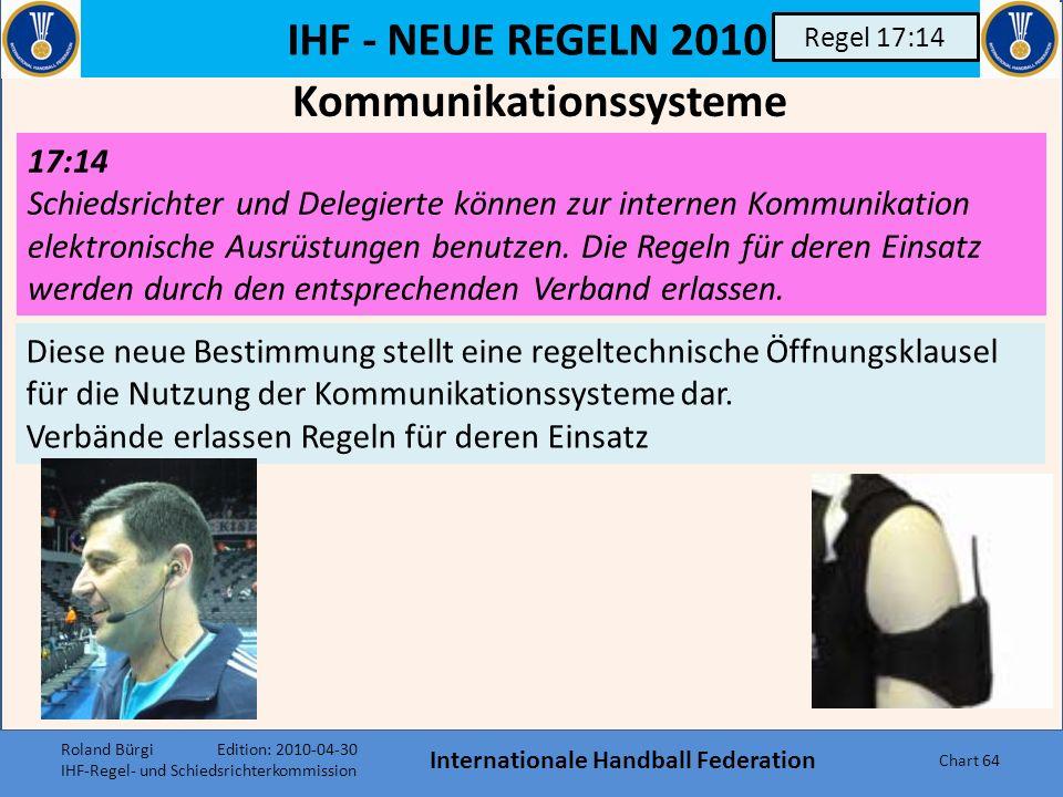 Kommunikationssysteme Internationale Handball Federation