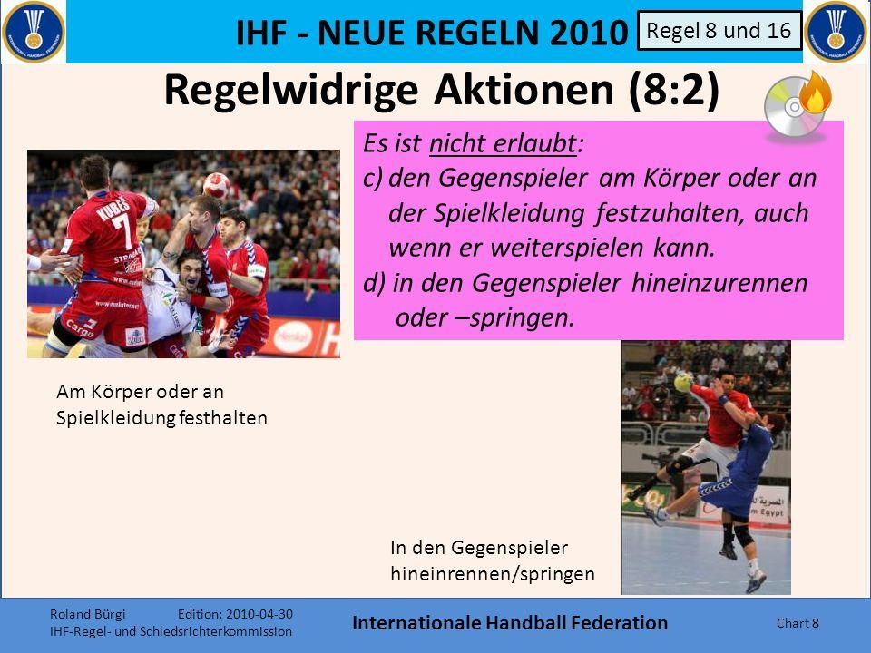 Regelwidrige Aktionen (8:2) Internationale Handball Federation
