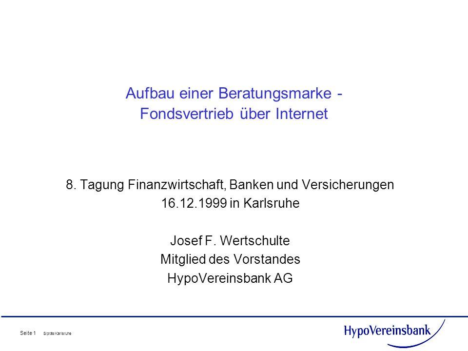 Aufbau einer Beratungsmarke - Fondsvertrieb über Internet