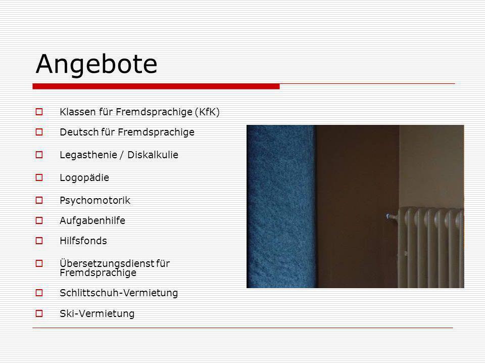 Angebote Klassen für Fremdsprachige (KfK) Deutsch für Fremdsprachige