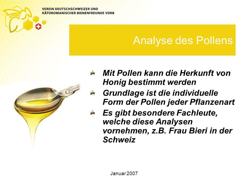 Analyse des Pollens Mit Pollen kann die Herkunft von Honig bestimmt werden. Grundlage ist die individuelle Form der Pollen jeder Pflanzenart.