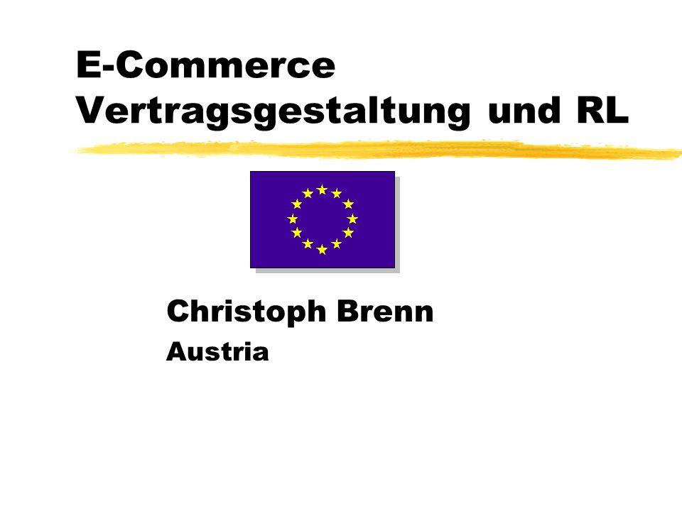 E-Commerce Vertragsgestaltung und RL