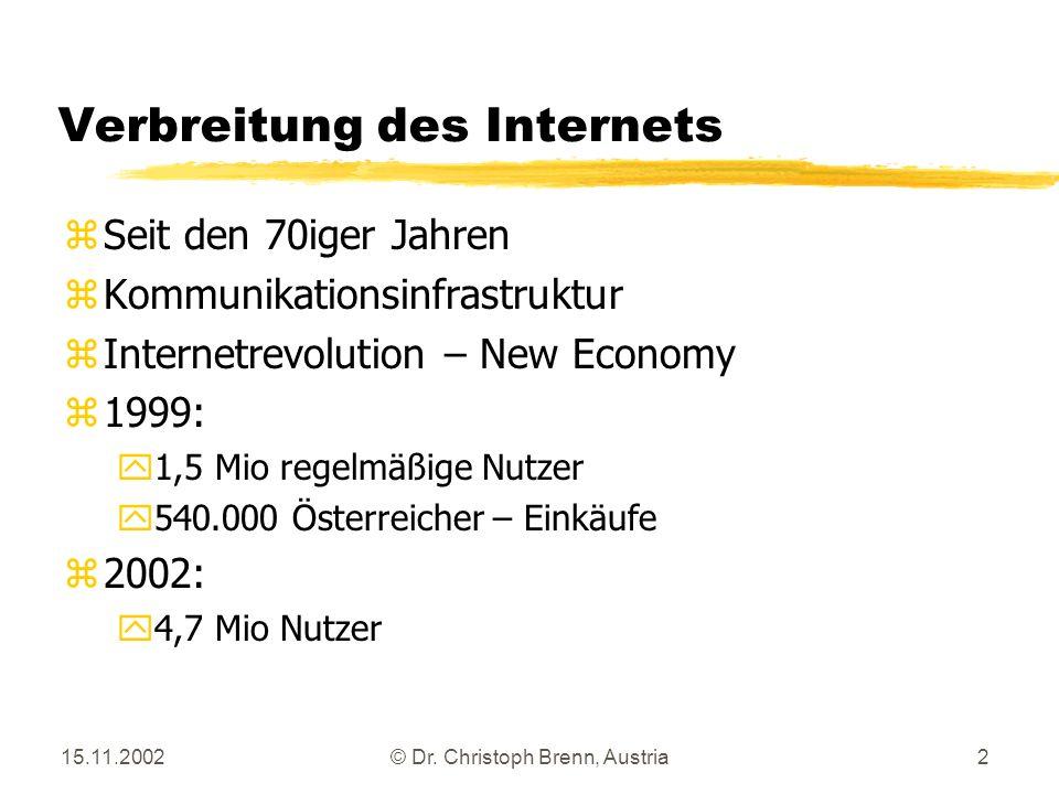 Verbreitung des Internets
