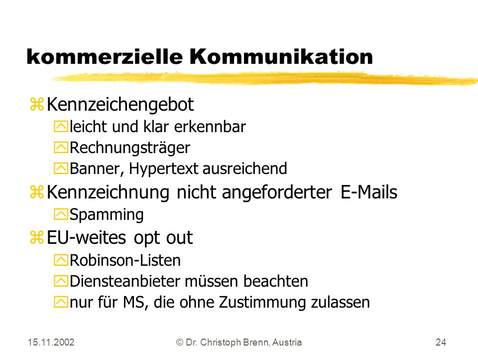 kommerzielle Kommunikation