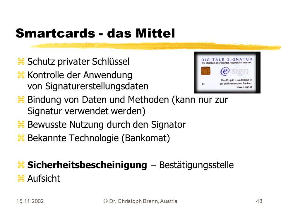 Smartcards - das Mittel