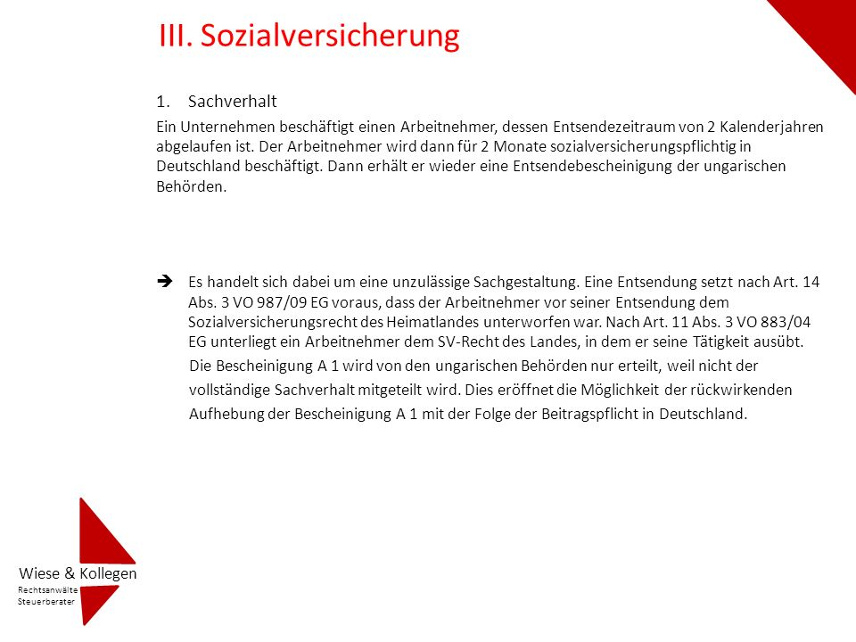 III. Sozialversicherung
