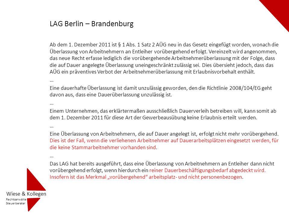 LAG Berlin – Brandenburg