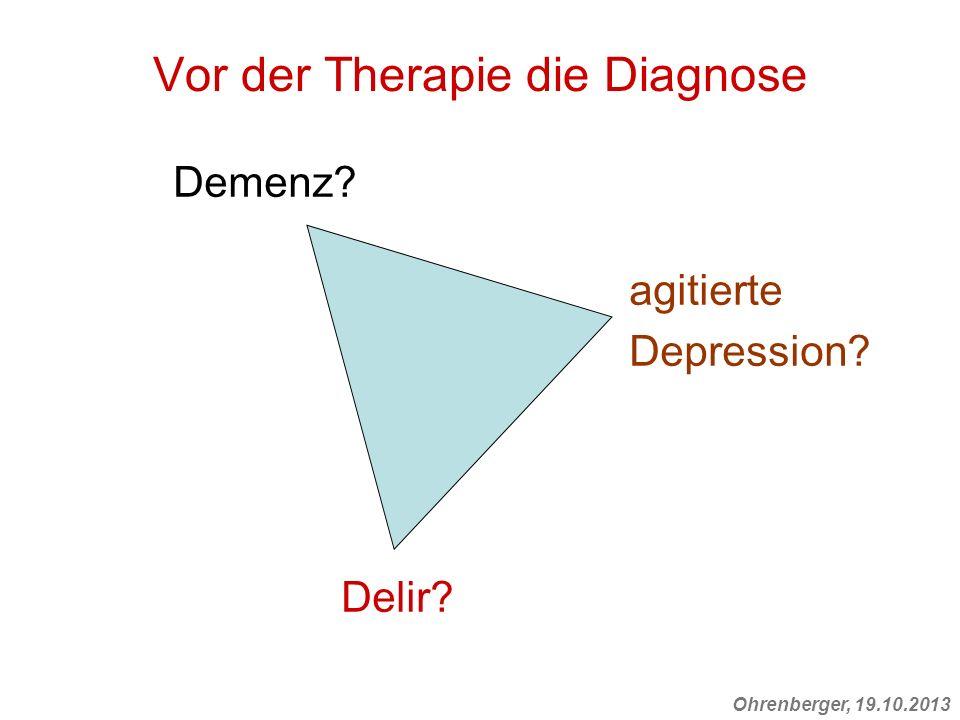 Vor der Therapie die Diagnose