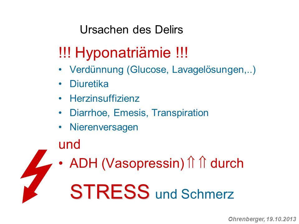 STRESS und Schmerz !!! Hyponatriämie !!! und