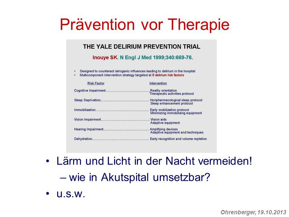 Prävention vor Therapie